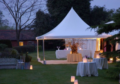 Marquee entrance at dusk westernmarquees.co.uk