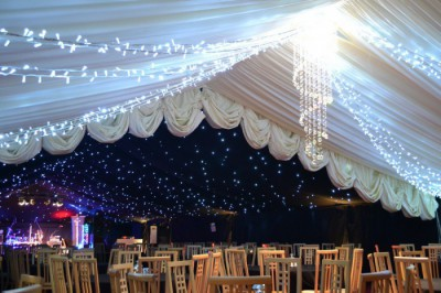 Starlight versus ivory roof lining westernmarquees.co.uk