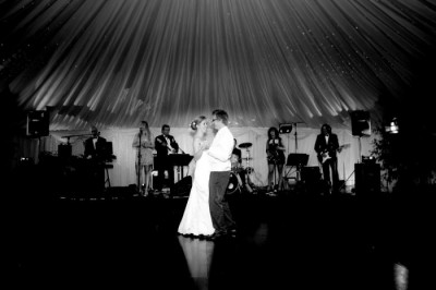 First dance in wedding marquee westernmarquees.co.uk