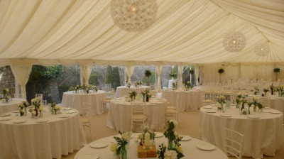 Ivory themed wedding marquee westernmarquees.co.uk