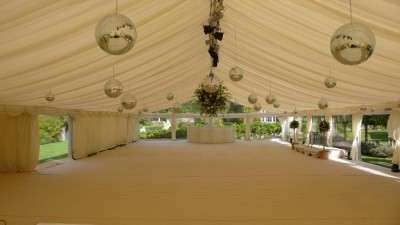 Par pinspot lights in wedding marquee westernmarquees.co.uk