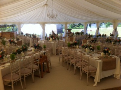 Hessian runners at Upton Country Park's marquee hire westernmarquees.co.uk
