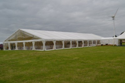 15m wedding marquee westernmarquees.co.uk